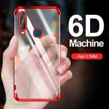 Ultra-fino luz transparente caso para vivo y12 y15 y17 y3 y9s u10 v17 s1 pro macio telefone galvanizado capa traseira em y 12 15 17