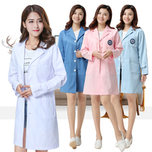 Doctor in white coat and long sleeve, doctor in female lab coat, student pharmacy cosmetologist and nurse in overalls