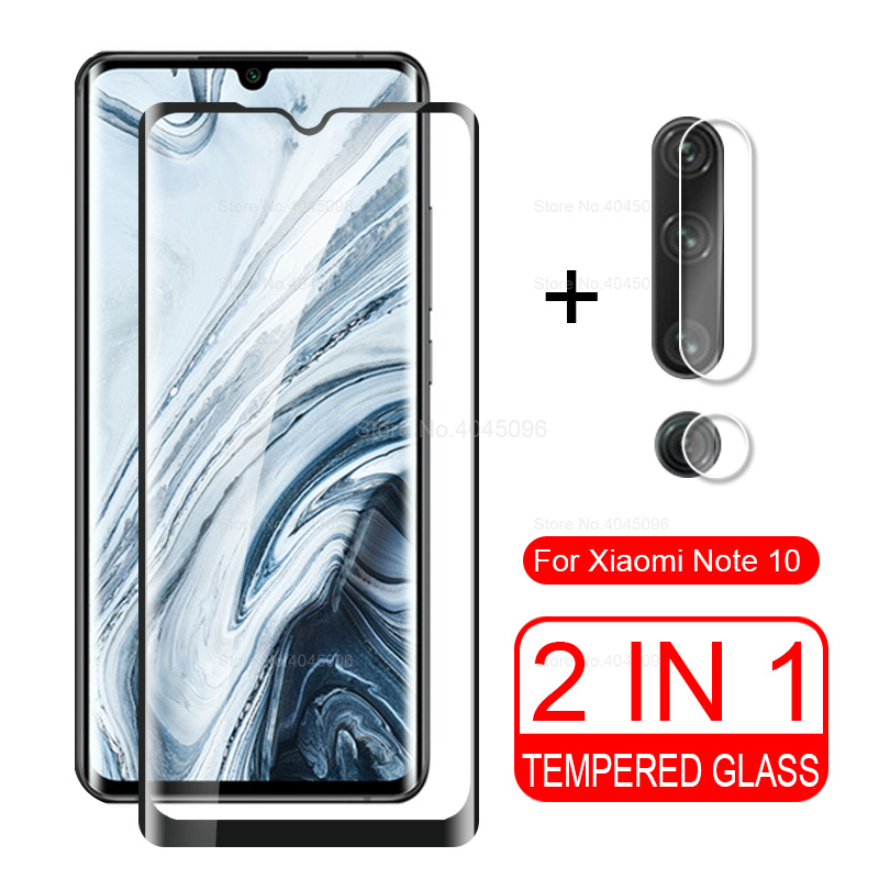 2 in <font><b>1</b></font> camera glass for xiaomi note <font><b>10</b></font> pro tempered glass for xiaomi xiomi mi note10 note 10Pro back cover screen protector film image