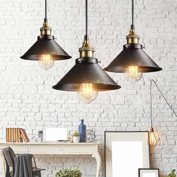 Iron Industriële Hanglamp Edison Vintage Loft Hanglamp Restaurant Cafe Bar Indoor Verlichting Armatuur 22 Cm/26 Cm/30 Cm/36 Cm