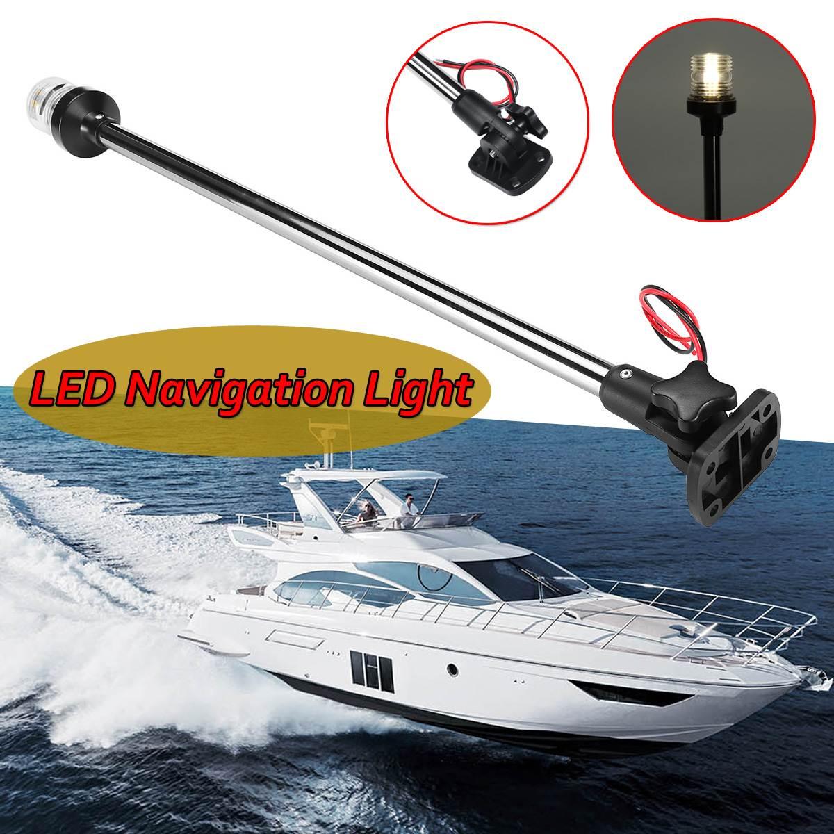 "Fold Down 12-24V 9.8''/ 16''/25"" Marine Boat LED Navigation Lights Marine Boat Yacht Stern Anchor Light LED Sailing Light Lamp(China)"