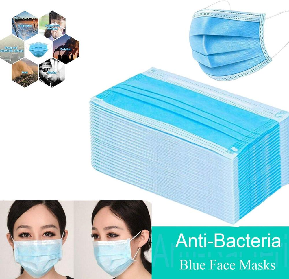 300 Pcs Disposable Masks Anti-dust Safe Breathable Mouth Mask Disposable Ear Loop Face Hypoallergenic Dust-proof Masks