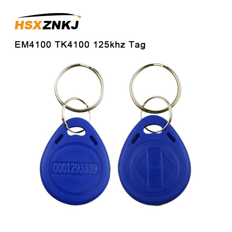 5/10 pces em4100 tk4100 125khz proximidade chip tag tag cartão etiqueta chave id keyfob rfid fob token anel