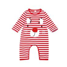 0-24M newborn christmas clothes baby christmas outfits long sleeve striped reindeer romper xmas onesie deer jumpsuit christmas reindeer raglan sleeve striped tee