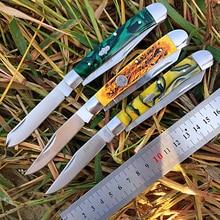 [Watchman dp008] deslizamento comum multi lâmina faca de bolso moderno tradtional dobrável facas pasta osso material coleção