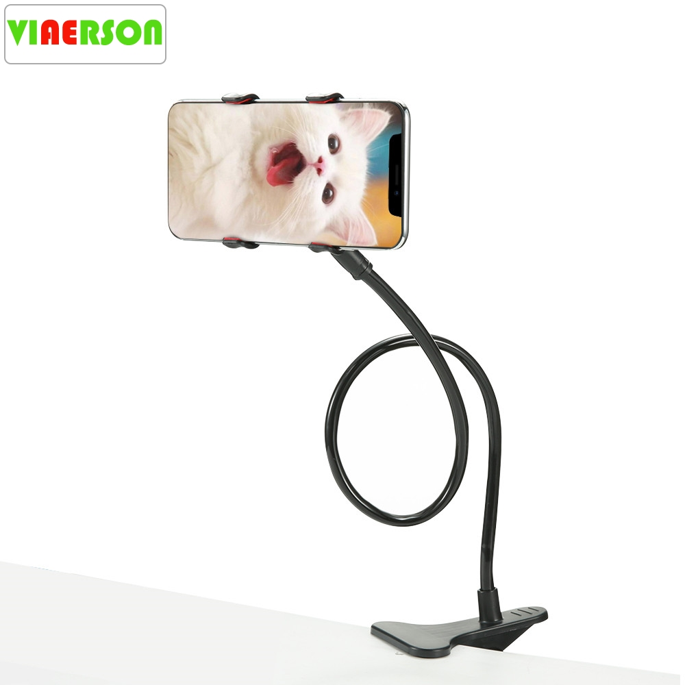 Mobile Phone Clip Holder Phone Holder Desk Bed Table Stand Mount For iPhone Cellphone Selfie Monopod Tripod Cradle Stand Holder