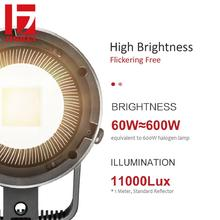 JINBEI EFII-60 60W AC DC LED Video Light Kit 5500K CRI 95+ Dimmable Bowens Mount Photography Lighting with Controller Reflector