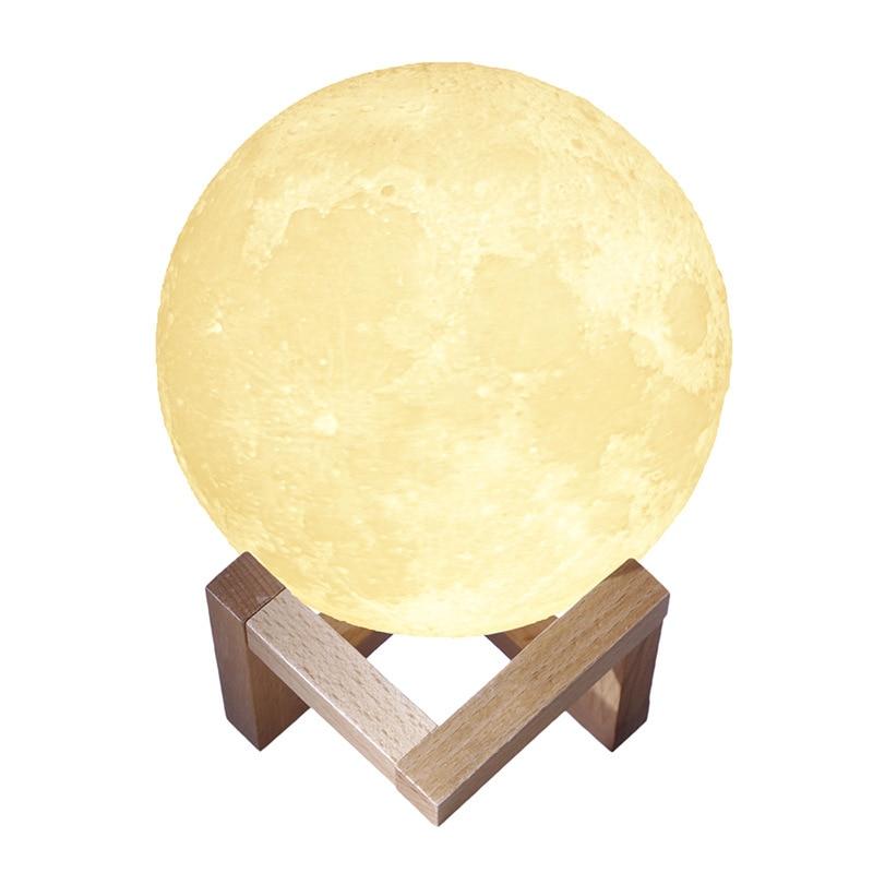 3D Printed Moon Light LED Table Lamp Night Light