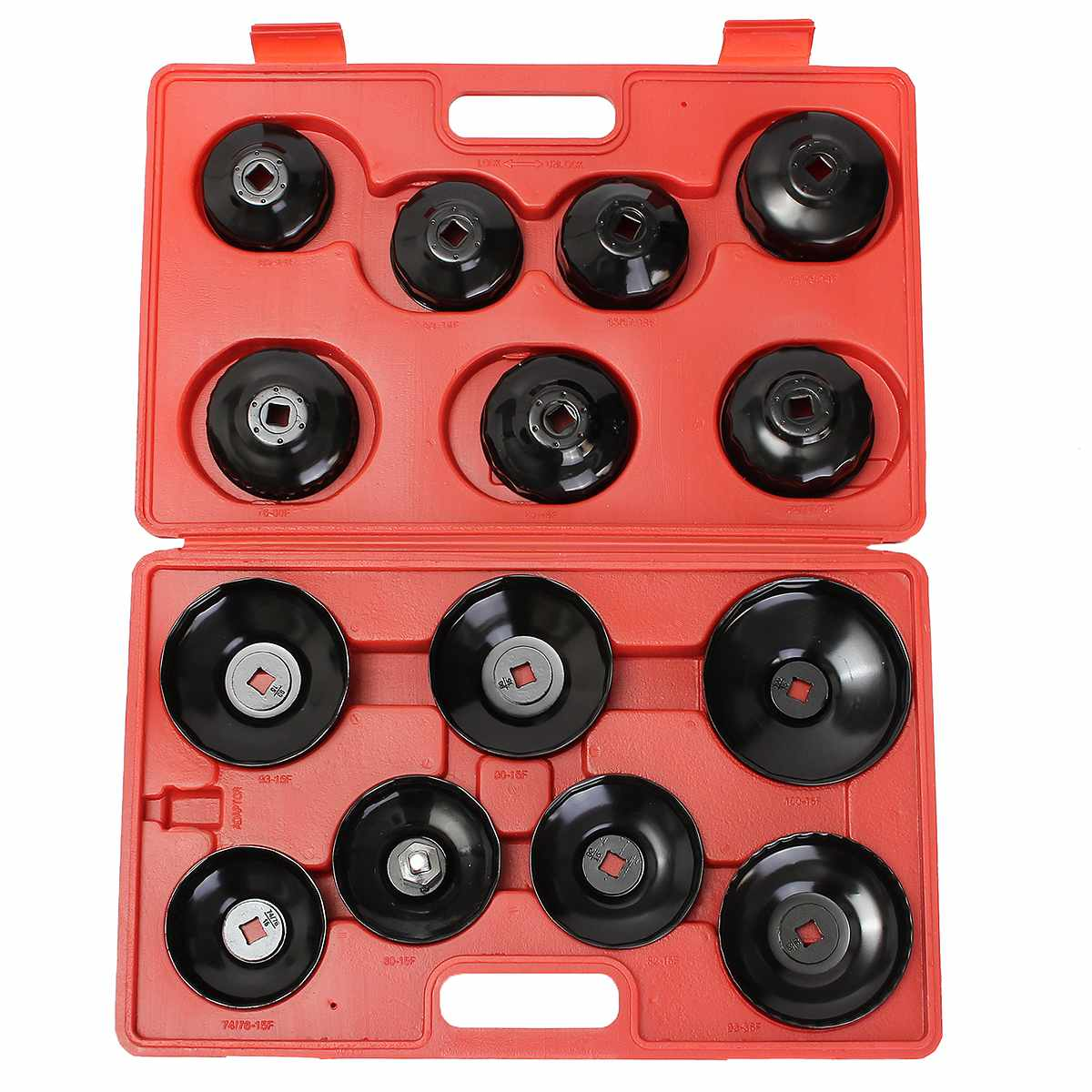 Doersupp 14 PCS Universals Car Oil Filter Wrench Socket Cap Auto Removing Tool Filter Housing Caps 4 Cylinder Non-Slip Hand Tool