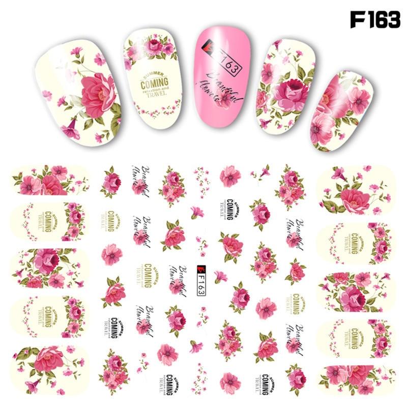 1 Sheet Pink Plum/Garden Flowers/Blossoms 3D Embossed Nail Sticker Spring Flowers Adhesive DIY Manicure Slider Art Tips