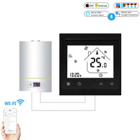 BHT 002 Tuya Wifi Smart Gas Boiler Thermostat 3A Temperature APP Remote Control for Water/gas boiler Work with Alexa Google Home