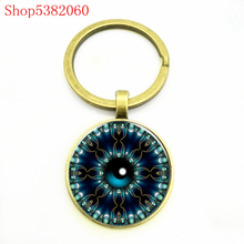 Blue evil eye fashion keychain