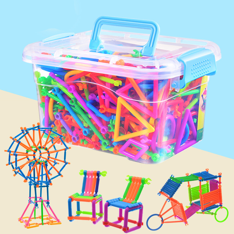 Smart Building Blocks Sticks Stitching Toys Children's Plastic Spelling Assembling Puzzle Toy Blocks Arming Toys