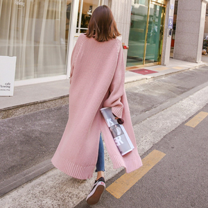 Image 2 - Colorfaith New 2020 Autumn Winter Womens Sweaters Korean Style Minimalist Solid Multi Colors Casual Long Cardigans SW8528