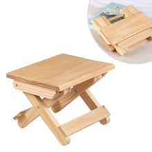 Wooden Folding Stool Household Simple Folding Stool Portable Lightweight Folding Stool For Fishing Camping Outdoor Travel Pinic