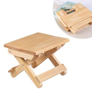 Image 1 - Wooden Folding Stool Household Simple Folding Stool Portable Lightweight Folding Stool For Fishing Camping Outdoor Travel Pinic