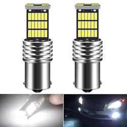 2x 1200LM Canbus No Error P21W 1156 BA15S LED Bulb Day Daytime Running Light DRL Lamp For Kia Rio 3 4 2015 2016 2017 2018