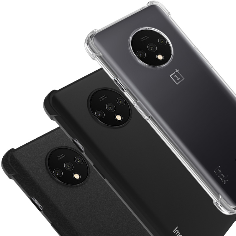 Imak TPU Frosted Soft Silicone Case for Oneplus 7T Case Matte Black Shockproof Airbag Back Cover