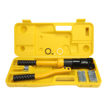 YQ - 120 Hydraulic Pressure Clamping Pliers Kit With Dies Steel Cutter Power Tool Equipped With 8 Sets Of The Crimping Dies