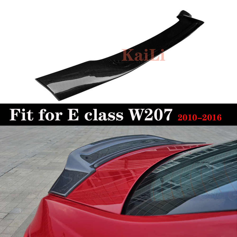 Carbon Fiber Trunk Spoiler Wing For <font><b>Mercedes</b></font> E Class W207 <font><b>Coupe</b></font> 2010 - 2016 E200 E250 <font><b>E300</b></font> image