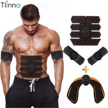 Тренажер мышц Tlinna EMS для похудения, умный фитнес пояс для тренировки живота, электрический беспроводной массажер для мышц унисекс