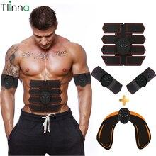 Tlinna ems 筋肉シミュレータボディ痩身スマートフィットネス腹部トレーニングベルト電機筋肉マッサージユニセックス