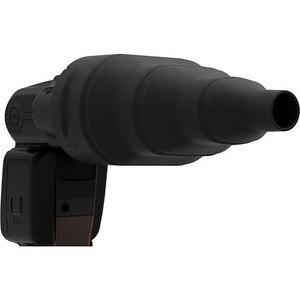 Borracha de silicone flash quente cônico snoot controle luz para canon nikon yongnuo godox speedlite como magsnoot universal
