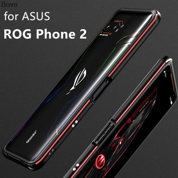 Case For ROG Phone2 Luxury Deluxe Ultra Thin aluminum Bumper for Asus ROG Phone 2 ZS660KL + 2 Film (1 Front +1 Rear)