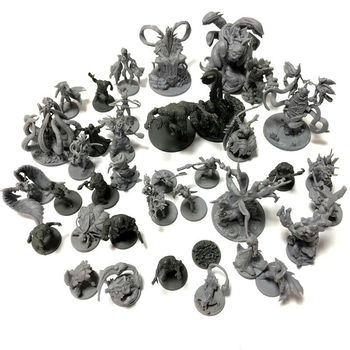 Lot Board Game Miniatures Model Toys Kits Zombie Monsters Cthulhu Wargame Role Playing Figures For Boy