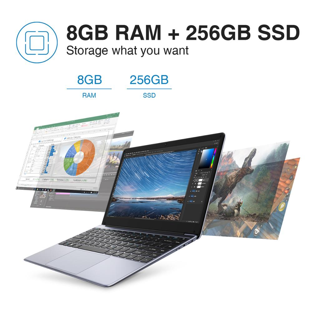 2020 NEW ARRIVAL CHUWI HeroBook Pro 14.1 inch 1920*1080 IPS Screen Intel N4000 Processor DDR4 8GB 256GB SSD Windows 10 Laptop 4