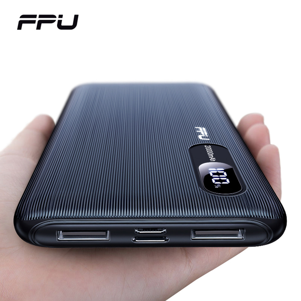 FPU Power Bank 20000mah For Xiaomi For IPhone Portable Powerbank 20000 Mah Phone Poverbank Charger Mobile External Battery Pack