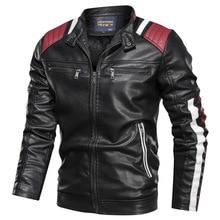 Zimowa wiosna nowy swobodny skórzany kurtki płaszcze mężczyźni strój projekt motocykl Biker kieszeń na suwak kurtka ze skóry sztucznej mężczyzn