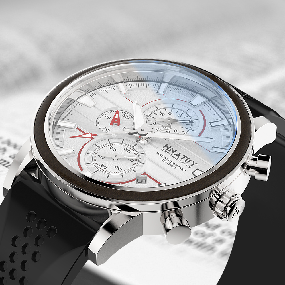 Hnatuy Men's Watches Waterproof Stainless Steel Quartz Watch Male Chronograph Military Clock Wrist watch one more watch strap