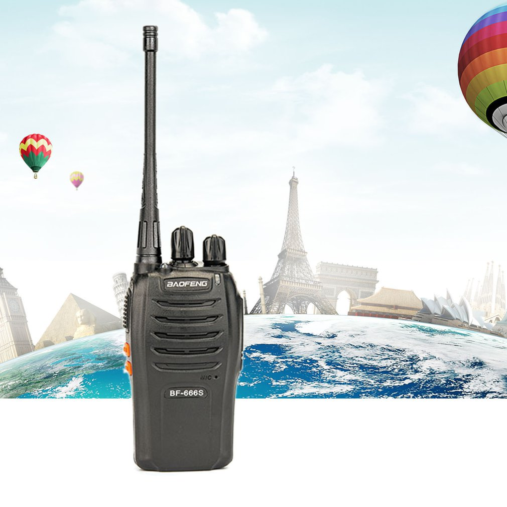 BF-666S Walkie Talkie Emergency Alarm Automatic Power Saving Busy Channel Lock Computer Programming Voice Control