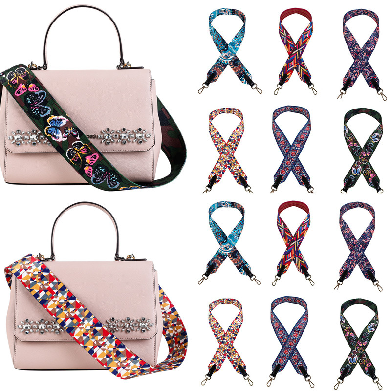 Colored Belt Bags Strap Accessories For Women Rainbow Adjustable Shoulder Hanger Handbag Straps Decorative Handle Chain Bag
