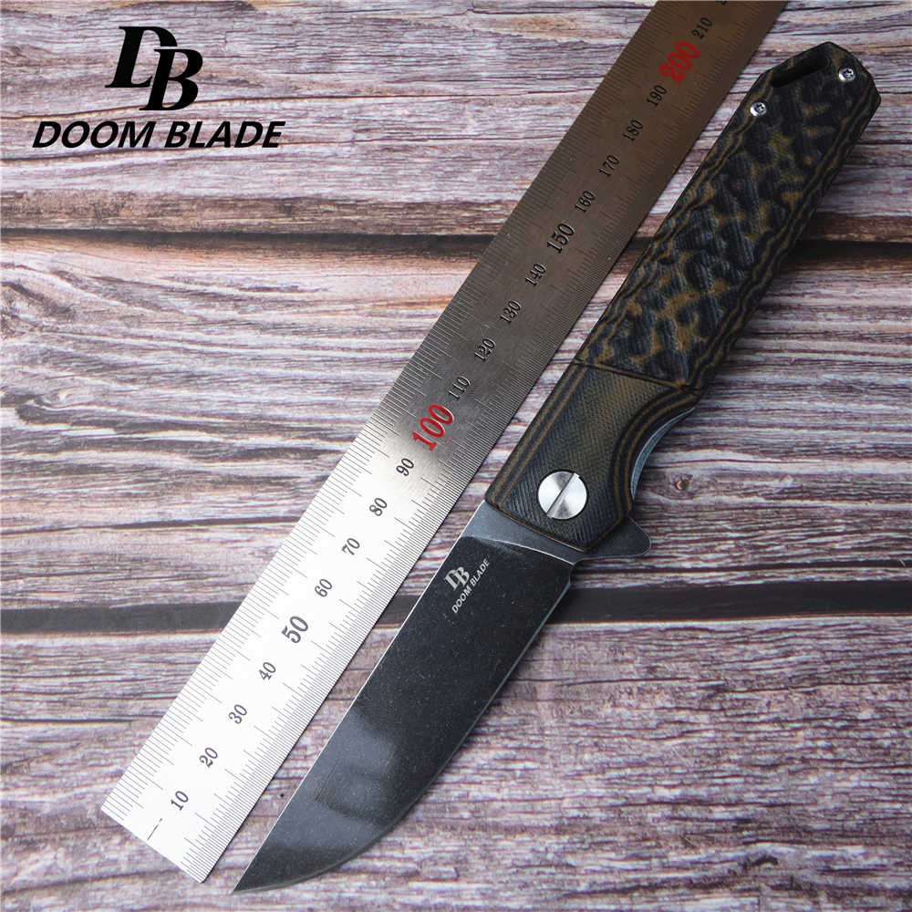 "7.9 ""FH11 60-61HRC มีดพับมีด D2 ใบมีด G10 Handle Camping Survival พ็อกเก็ตมีดแบริ่ง Flipper ยุทธวิธี EDC เครื่องมือ"