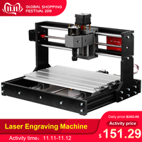 KKMOON 3018 Pro Laser Engraving Machine GRBL ER11Control CNC Engraving Machine Wood Router With Offline Controller Extension Rod