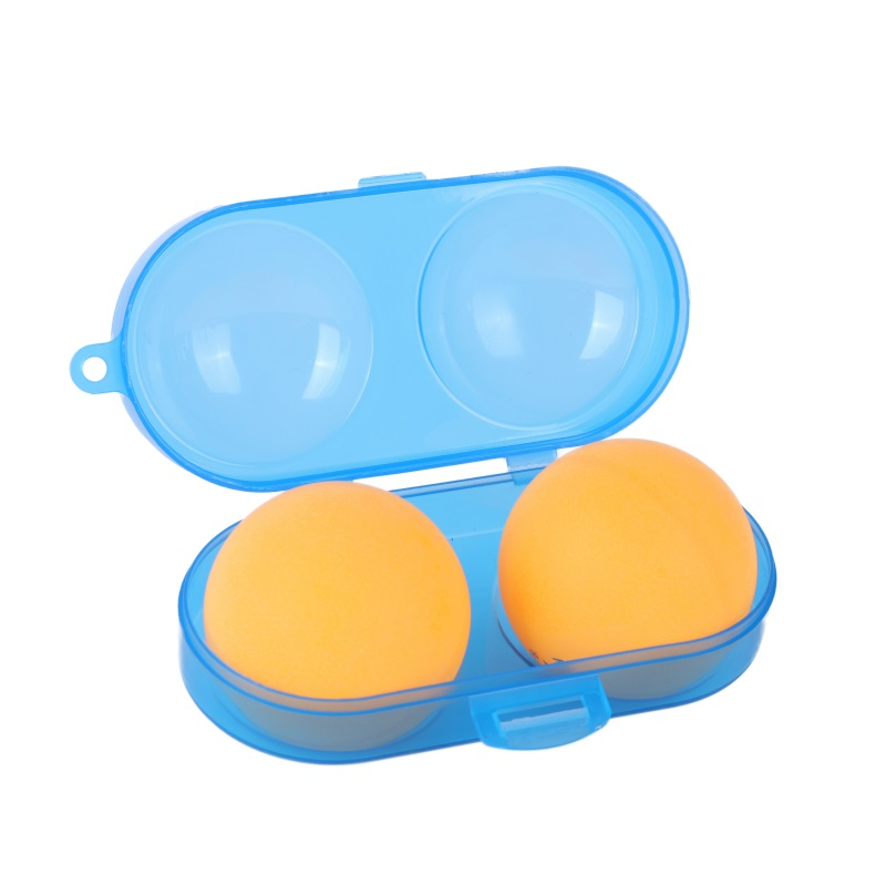 Portable Table Tennis Container Box PP Plastic Key Chain Tool Storage Case For 2 Ping Pong Balls Sports Training Accessories NEW
