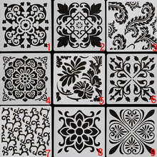 9pc Stencil Mandala Painting Template DIY Scrapbooking Photo Album Embossing Bullet Journal Stencils Decor Spray Mold Reusable