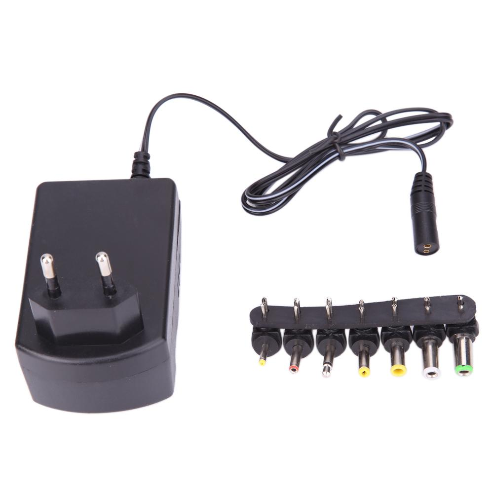 30W 3.0A Universal <font><b>AC</b></font> <font><b>DC</b></font> Adapter Converter 6 Plugs <font><b>3V</b></font> 4.5V 6V 7.5V 9V <font><b>12V</b></font> for Use w/ All Major Brand Equipment Power Charger EU image