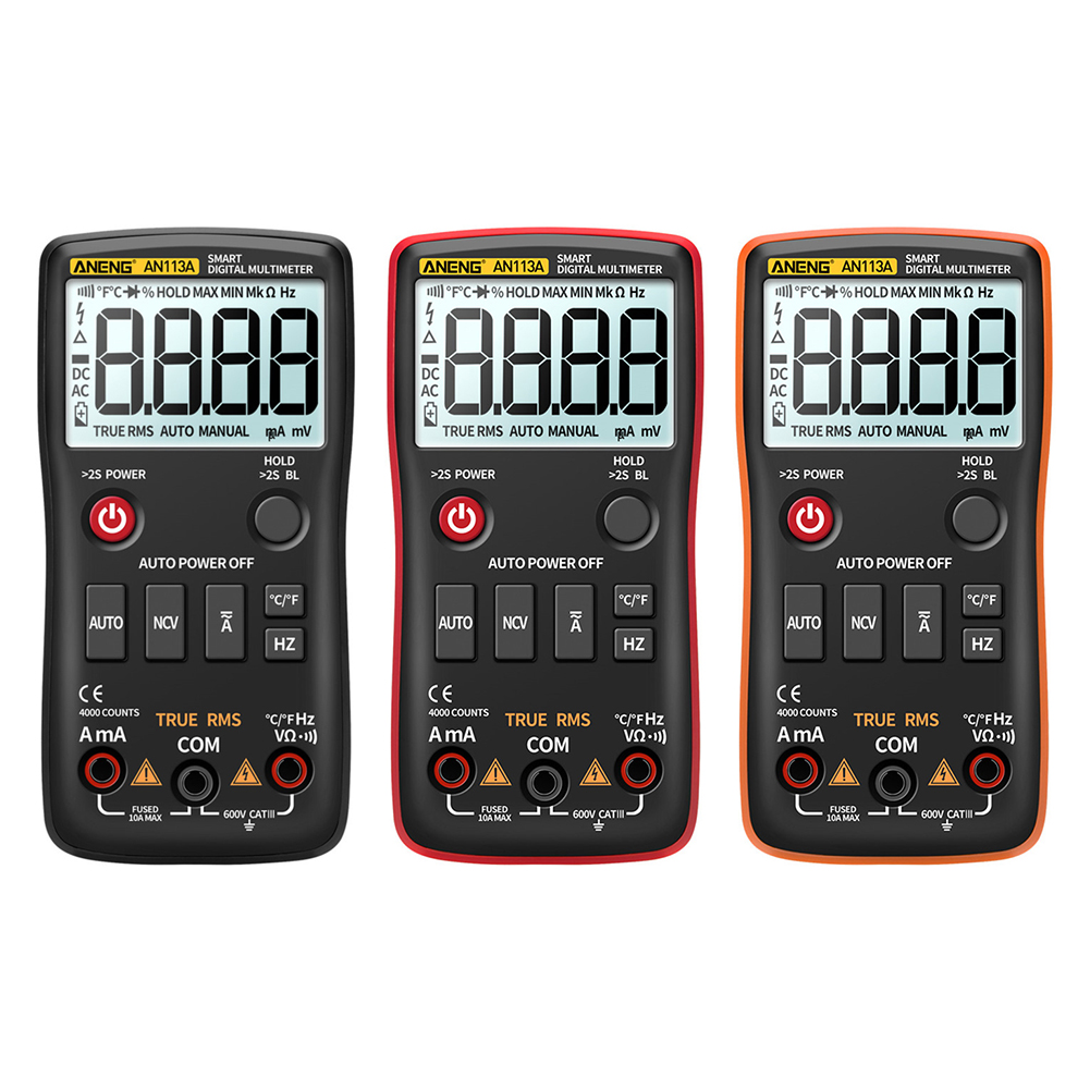 ANENG AN113A Auto Range Intelligent Digital Multimeter 4000 Count Voltmeter Multifunction Voltmeter