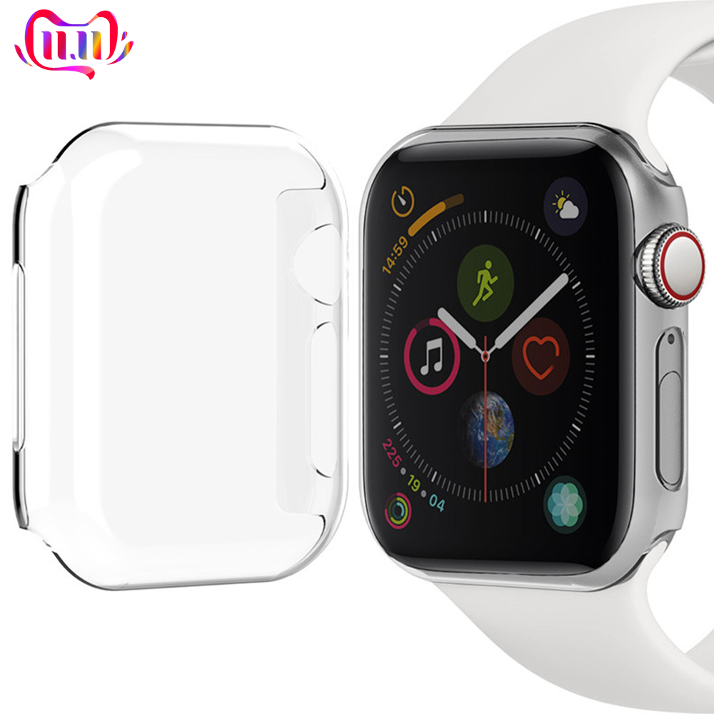 Watch Case For Apple Watch Band Apple Watch 4 3 5 Case 44mm 40mm Iwatch Series 4 5 Colorful Plating Cover PC Frame Replacement