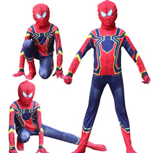 Red Spiderman Costume Spider Man Suit Spider-man Costumes Adults Children Kids Spider-Man Cosplay Clothing  Hero Mask
