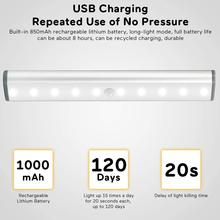 LED Under Cabinet Light LED PIR Motion Sensor Lamp for Wardrobe Cupboard Closet Kitchen light with usb charing