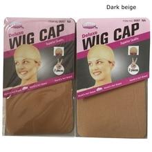 10 pieces Brown Wig Cap Hairnet Hair Mesh Wig Weaving Cap Stretchable Elastic Hair Net 5 color 2 Pieces/PACK