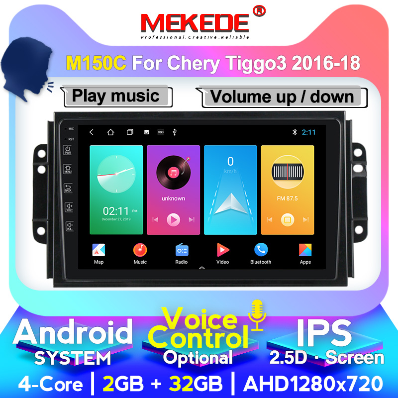 MEKEDE M200 Android 4G+64G 4G LTE IPS Screen Car Radio Multimedia Video Player Navigation GPS For Chery Tiggo 3 2016-2018