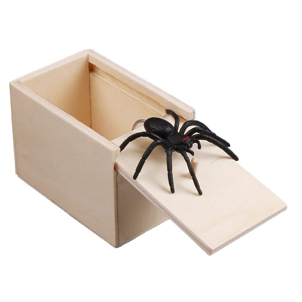 5/10 Pcs/set Funny Gadgets Simulation Spider Toy Lifelike Scary Red  Novelty Trick Fake Bugs Wooden Prank Halloween Props