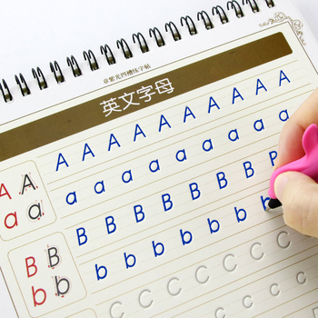 Английская тетрадь для каллиграфии книги для детей слова детская книга почерк Дети Обучение в письменной форме английский учебник каллиграфия для новорожденных копировальная книга игрушки для детей