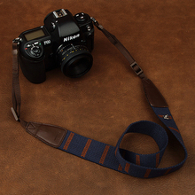 Cam 8196 dijital SLR kamera askısı rahat pamuklu kamera kordon Nikon Sony Canon ve diğer kameralar