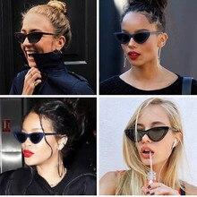 2021 spielen Cool Cute Sexy Retro Cat Eye Sonnenbrille Frauen Kleine Schwarz Weiß Dreieck Vintage Günstige Damen Sonnenbrille
